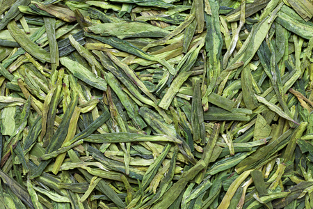 China Longjing tea leaves , closeup Фото со стока - 122767517