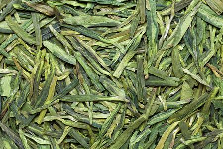 China Longjing tea leaves , closeup