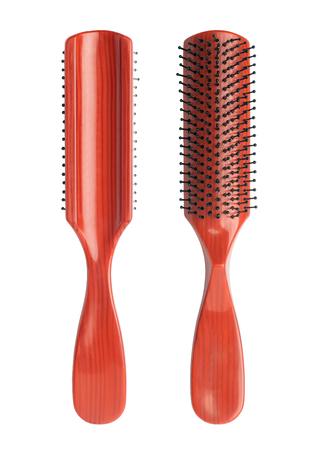 Comb brush isolated on white background