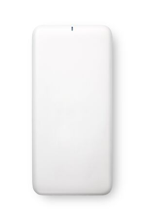 Power bank for charging mobile devices, Isolated on white background Imagens