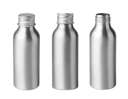 Metal bottle isolated on white background