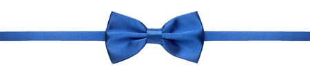 Blue bow tie isolated on white background Imagens