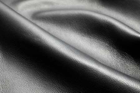 Close-up of black leather texture 스톡 콘텐츠