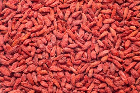 Dried goji berries (Chinese wolfberry) is an excellent tonic. Food background.