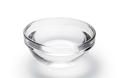 A bowl of water on white background