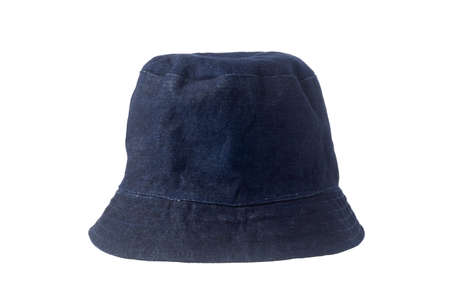 Denim hat isolated on white background