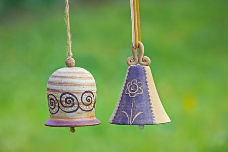Ceramic bells  in garden