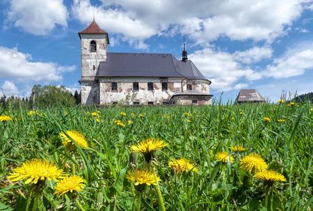 derelict: Derelict church in country