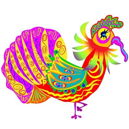 turkey cock: colorful turkey cock