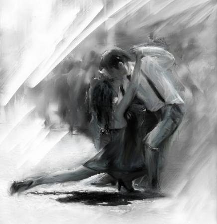 gens qui dansent: Couple de danseurs de tango argentin Banque d'images