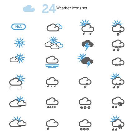 Weather Icons set on white Фото со стока