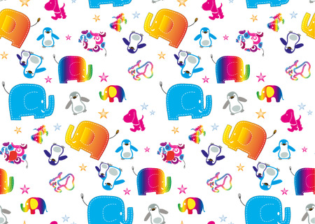 Seamless elephant kids pattern wallpaper background  photo