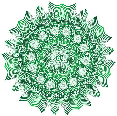 escarapelas: Flor decorativa gráfico, símbolo de seguridad, aislado en blanco, ilustración vectorial