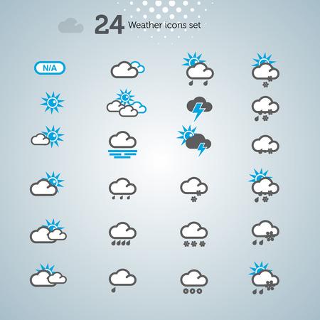 날씨 아이콘 설정, 벡터 배경 그림 일러스트