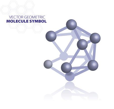 molecule symbol: Blue molecule symbol isolated on white background Illustration