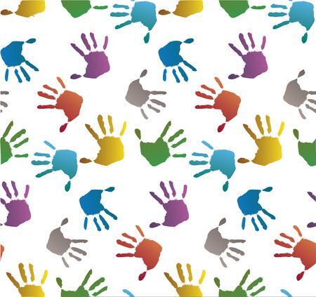 white bacground: FUNDAMENTO colorido con el s�mbolo de las manos, ilustraci�n sobre fondo blanco
