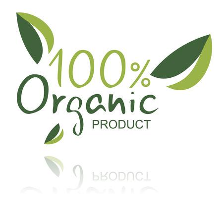 preservatives: Org�nica signo del producto aislado en blanco.