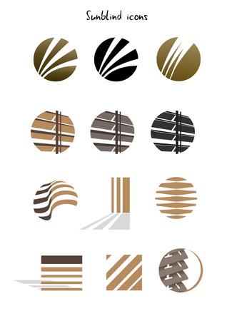 Het verzamelen van louvre iconen, concept, illustratie op wit wordt geïsoleerd