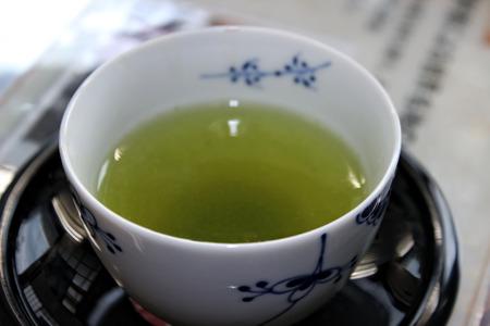 ceremonial: Cup of green ceremonial matcha tea
