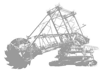 mine site: Bucket wheel excavator