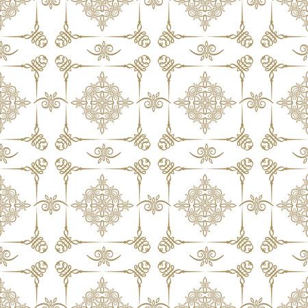 白地のいいゴールドを繰り返しシームレス幾何学模様  イラスト・ベクター素材
