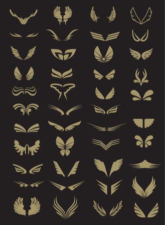 흰색 날개 컬렉션