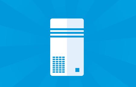 컴퓨터 또는 서버 파란색 배경,