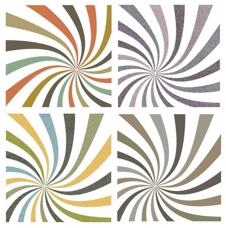색상 복고풍 줄무늬의 컬렉션