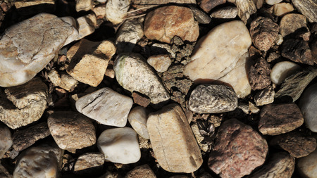 The close up of different sized stones Stock Photo