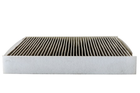 used car cabin filter isolated
