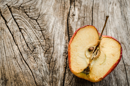 cleave: A apple fruit cleave on wooden table Stock Photo
