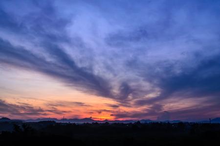trang: Beautiful Sunset at Trang Thailand