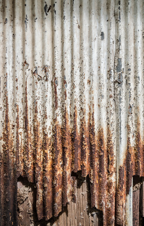 rusty: A rusty corrugated iron metal texture