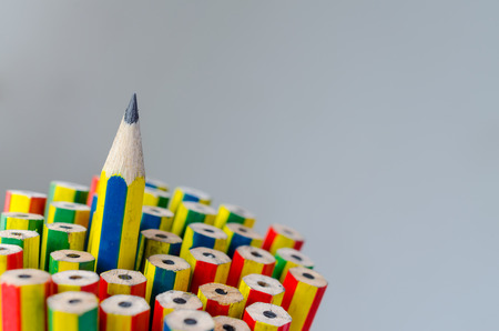 Individuality concept. Pencils close-up for background. Reklamní fotografie