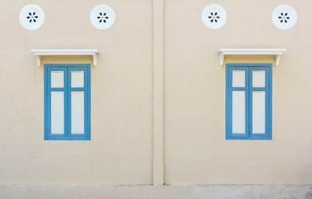 architech: vintage windows on the wall for background