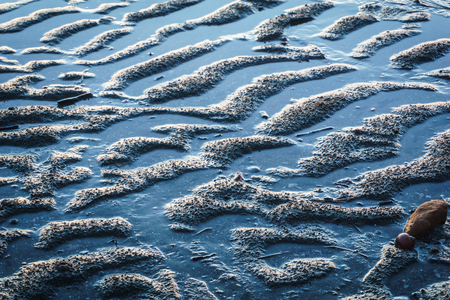 puckered: puckered texture of sand beach in Trang province,Thailand