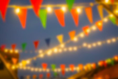 Blurred lights of night market - Abstract background.