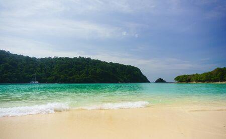 Beautiful beach in Koh-Rok Islands, Trang province, Thailand.
