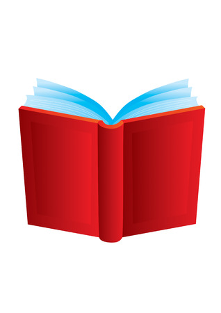 The open book with a red cover Illustration