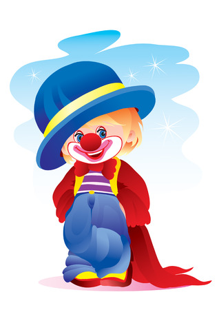 The small clown in the big hat Stock Vector - 2189474