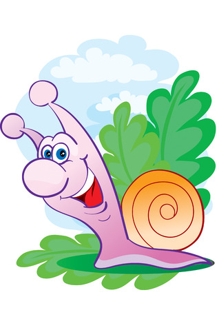 The small snail is pleased Stock Vector - 2587281