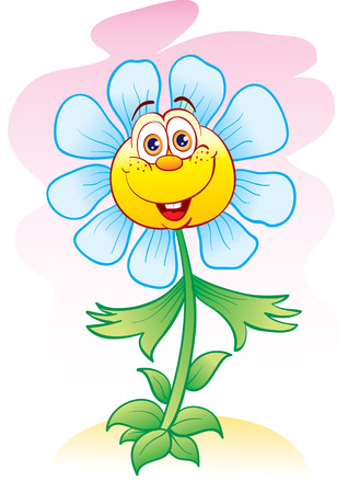 The cheerful flower is pleased lives Illustration