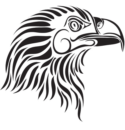 Head of an eagle in a structure Vector