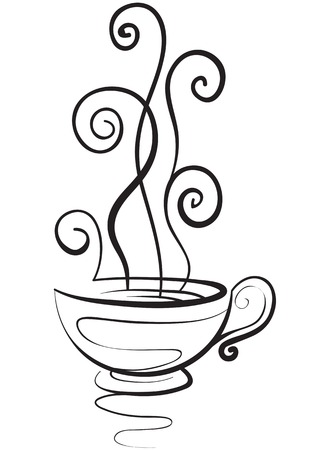 Elegant cup with a hot drink