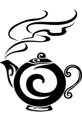 Teapot, in которм have just made tea Illustration