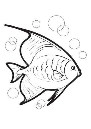Black-and-white fish in natural style Stock Vector - 5325513