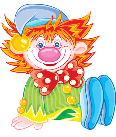 nice toy clown sits and smiles Illustration