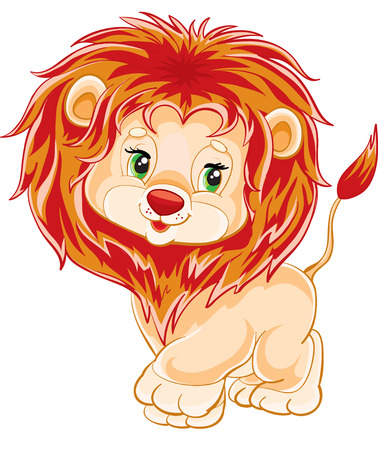 cute lion cub as a toy Vector