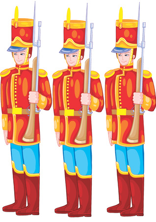 a set of tin soldiers for the game Illustration