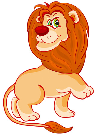 trained and brought up a lion in the zoo Vector